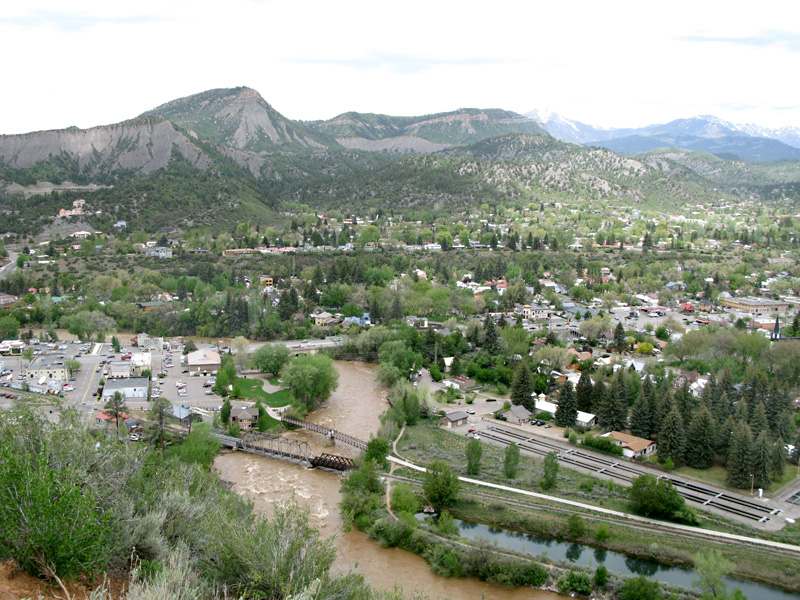 High water on the Animas from over Durango