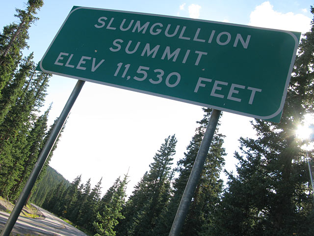 Slumgullion Pass Lake City Colorado Windy Point