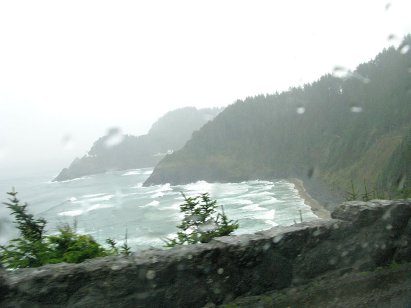 Cold wet Oregon coastline