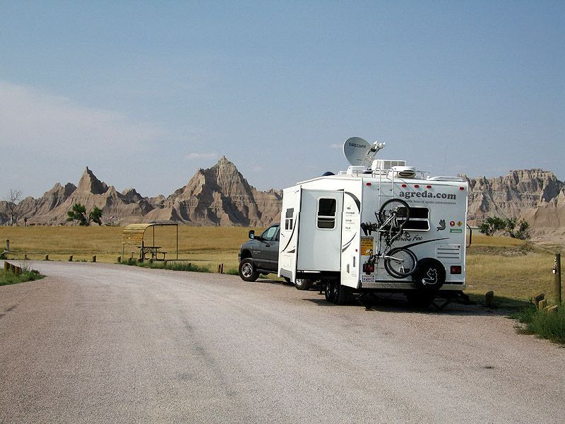Badlands, RV, camping