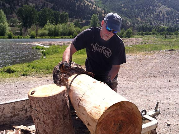 how to peel logs for handmade benches