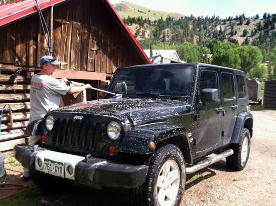 Vickers Ranch Workamping Job Washing Jeep Rentals