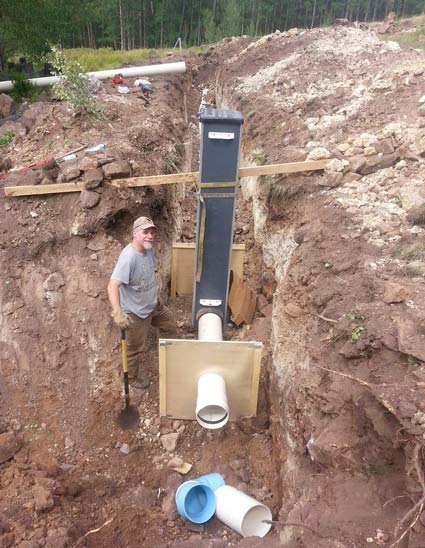 Installing Lake Agri Drain at Vickers Ranch Workamping Job