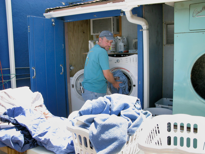 Lots of laundry for Riverbend workampers