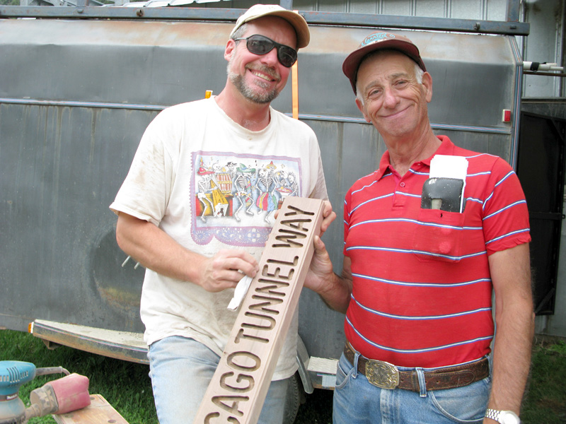 Vickers Workampers Al and Jim with Street Signs