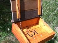wood work fish log station box made workamping