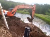 Agridrain Installation with Excavator