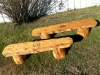 Log Benches Jim Made Workamping at Vickers Ranch