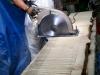 Ranch Workamping Job to Make Handmade Log Fireplace Mantle