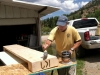 Ranch Workamping Job to Make Handmade Log Fireplace Mantle