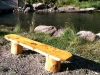 wood work log bench made ranch workamping