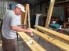 Making Vickers Ranch Brand Picnic Table at Workamping Job