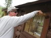 Jim painting cabins workamping at Vickers Guest Ranch