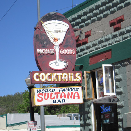 Sultana Bar in Williams, AZ
