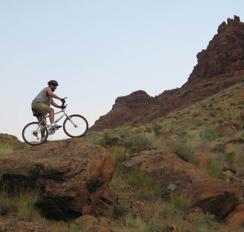 Jim Mountain Biking in Moab