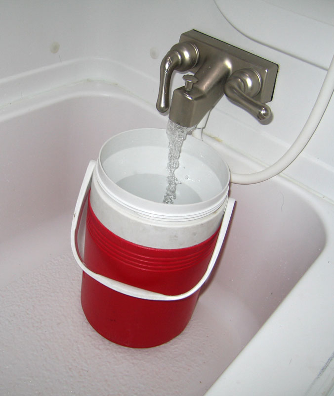 save water while boondocking