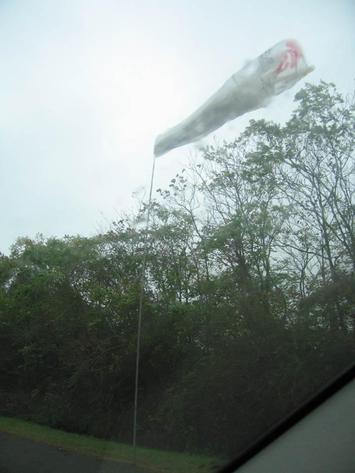 East Coast freeway trash on our RV antennae