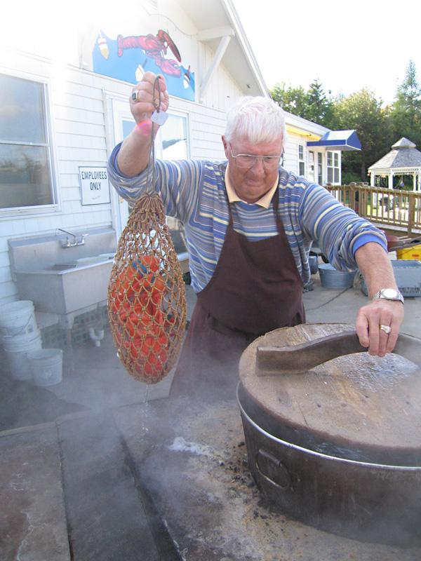 Steaming Lobster Pot