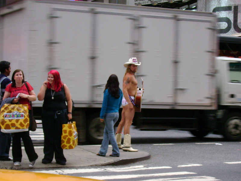 The Naked Cowboy in Times Square NY