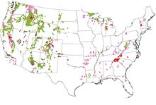 USFS National Forest Impact Map