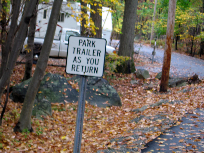 Park As You Return Sign