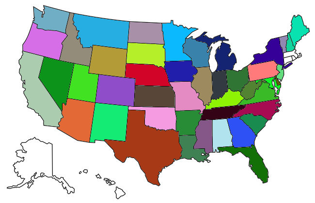 United States Visited RV Map