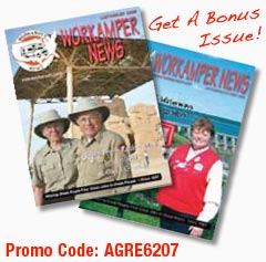 Free Workamper News with Promo Code AGRE6207