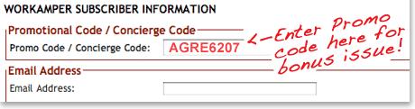 Workamper News Promo Code AGRE6207