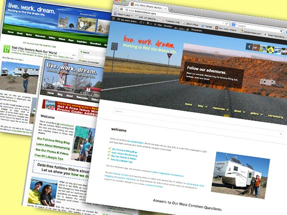 live work dream rv lifestyle worpress blog theme overhaul