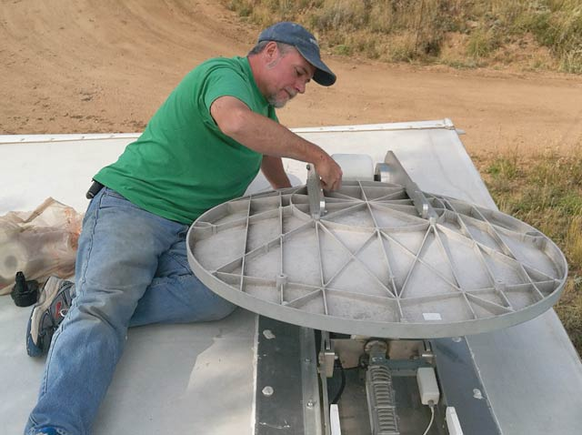 MotoSat F2 Satellite Internet Dish Repair