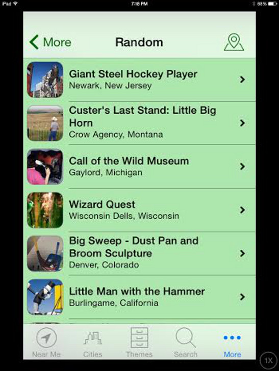 Roadside America iPad App
