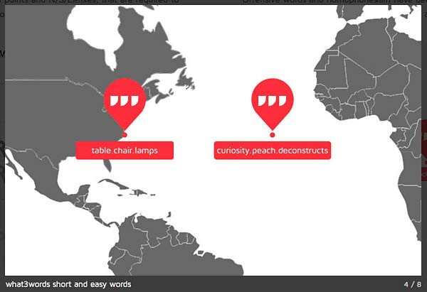 What 3 Words Map Examples
