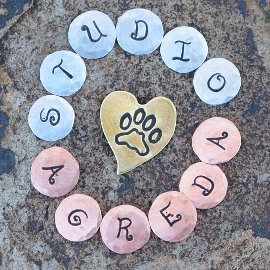 custom hand stamped metal jewelry