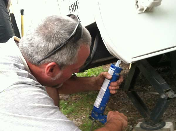 No silicone caulk on RV trim!
