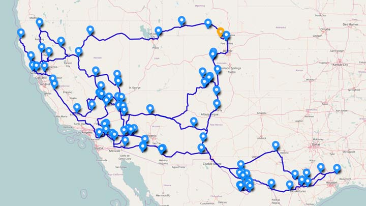 RV Travel Map