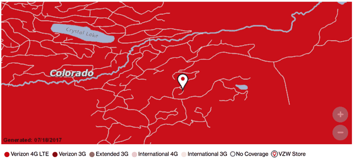 VZW Network Coverage