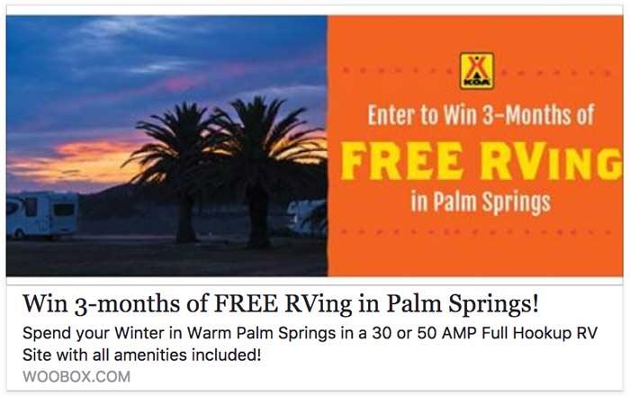 free rv site contest