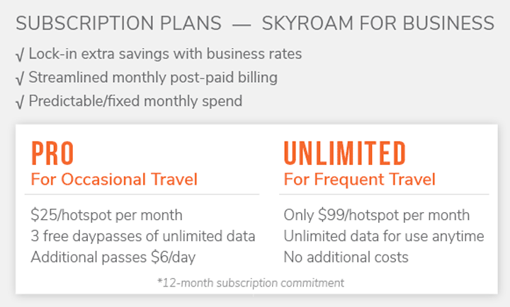 skyroam business plans
