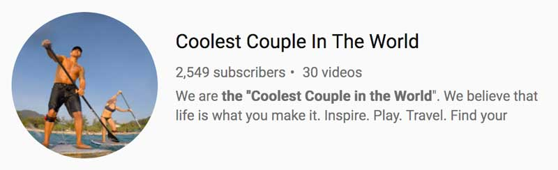 Coolest Couple in the World Youtube Channel