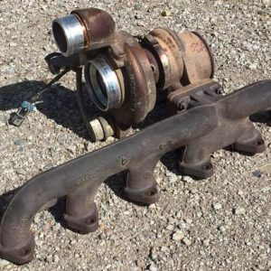 Old-Diesel-Turbo-and-Exhaust-Manifold